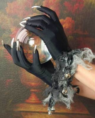 Silvery Claw Gloves & Crystal Ball