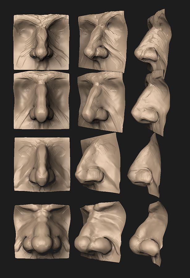 Anatomy Practice - Male Nose by HazardousArts on deviantART