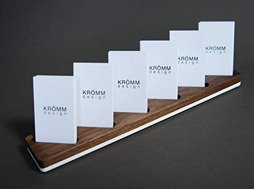 Amazon Com Multiple Vertical Moo Business Card Wood Stand