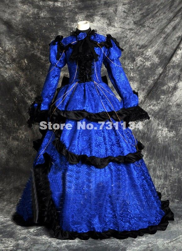 Cheap  2015 personalizzato retro blu vittoriano abito medievale guerra civile vestito delle donne costumi periodo vittoriano  , Compro Qualità Abbigliamento direttamente da fornitori della Cina:  2015 Cheap Ladies Cosplay Lolita Kimono Japanese Lolita Kimono Costume For WomenUSD 10.00-42.00/piece2015 New Discount