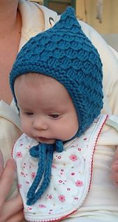 Ravelry: Diamond Drops #Knit #Baby #Bonnet #pattern by Annie Soutter