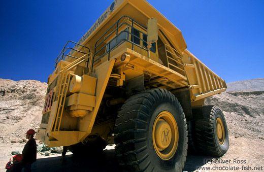 Giant truck at the Chuquicamata mine