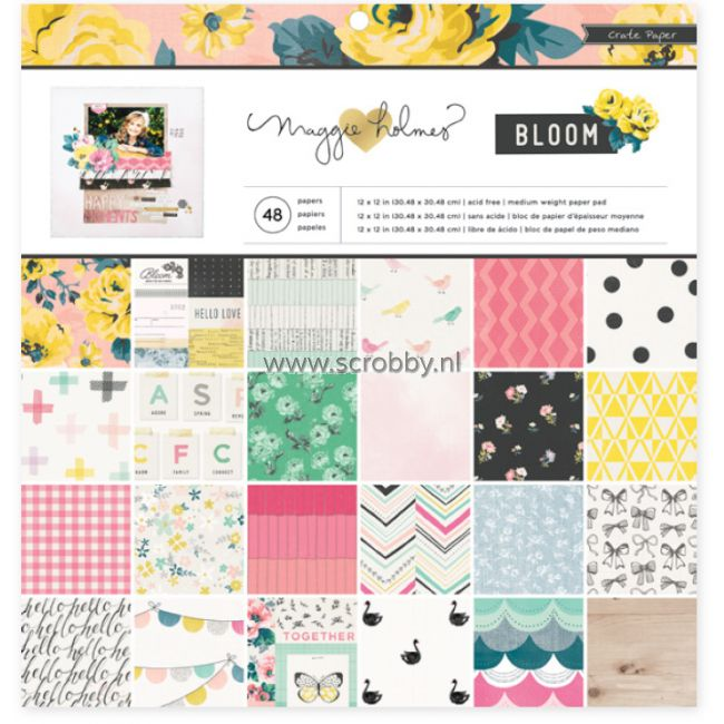 Crate Paper Maggie Holmes Bloom Paper Pad 12x12