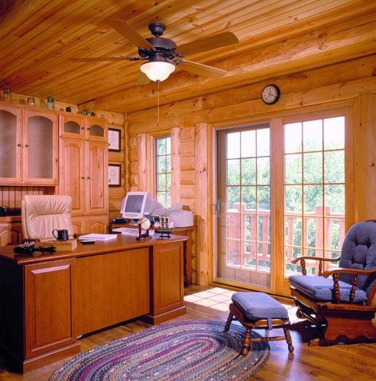 Best Log Home Office Images On Pinterest Log Cabins Loft