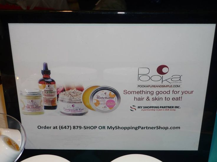 Pooka- something good for your hair and skin to eat! — at Toronto Natural Hair Show .