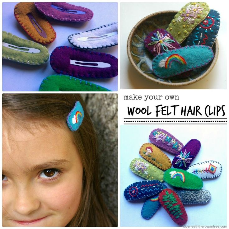 Beneath the Rowan Tree: Wool Felt Hair Clips :: DIY Tutorial for Pretty Barrettes