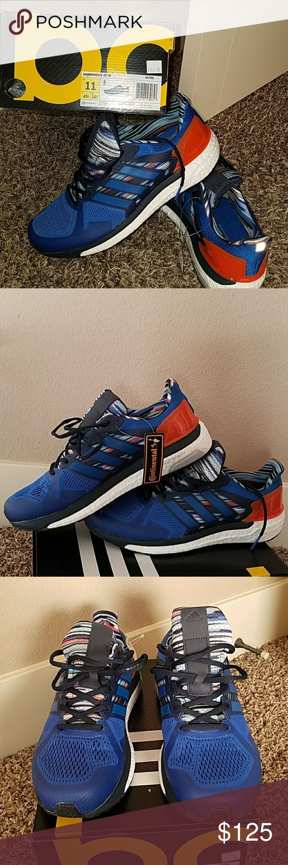 Adidas supernova boost Blue/Orange sneakers, Adidas performance shoe adidas Shoes Athletic Shoes