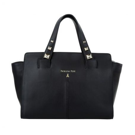 Patrizia Pepe Tasche – Bag With Piping Nero – in schwarz – Henkeltasche für Damen