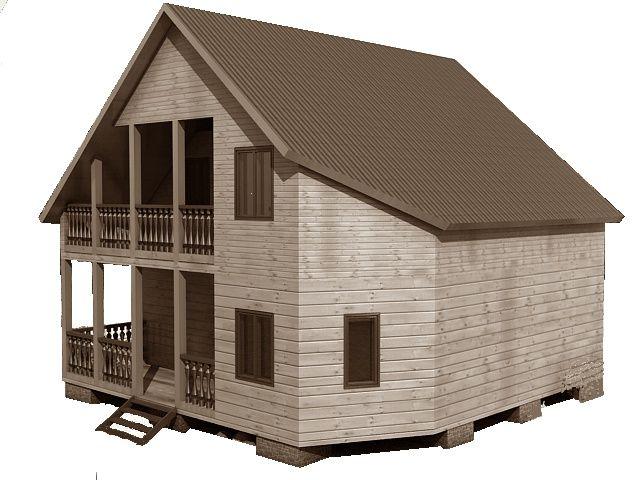 Готовый проект каркасного дома 8x8 от Строительной компании «ДОМ МЕЧТЫ».