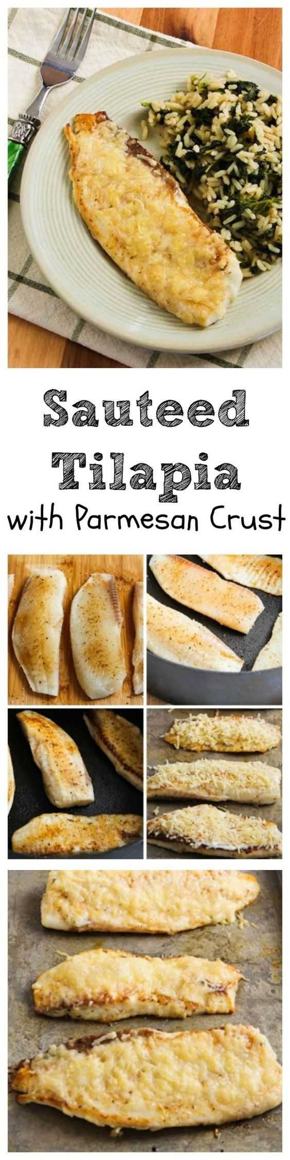 This easy and delicious Sauteed Tilapia with Parmesan Crust just might be the recipe that will get your family to enjoy fish!  And this healthy recipe is Low-Carb and Gluten-Free!  [from www.kalynskitchen.com]