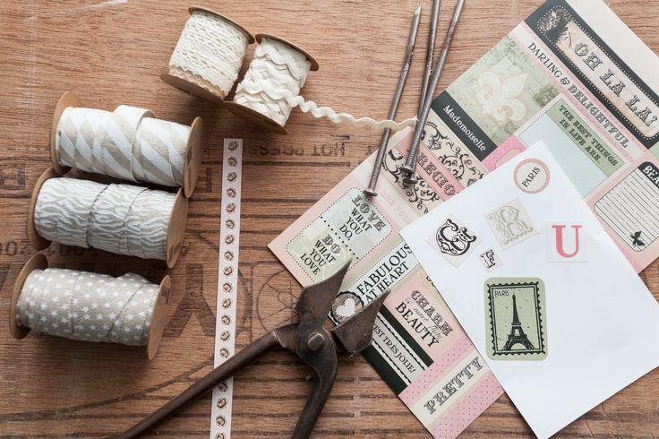 Accesorios y complementos para crear tus propios proyectos de decoración y regalos. #muymucho #diy #cintas #pegatinas #vintage #washitape #manualidades #creatividad