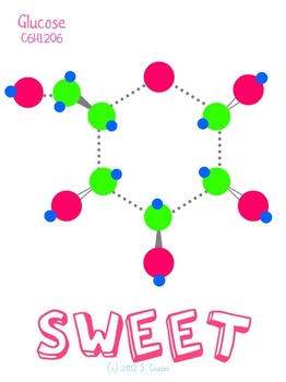 """Sweet""--Chemistry Poster...mmm, sugar."