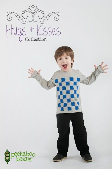 Peekaboo Beans winter Hugs + Kisses collection. | playwear for kids on the grow! | www.peekaboobeans.com #pbhugsandkisses