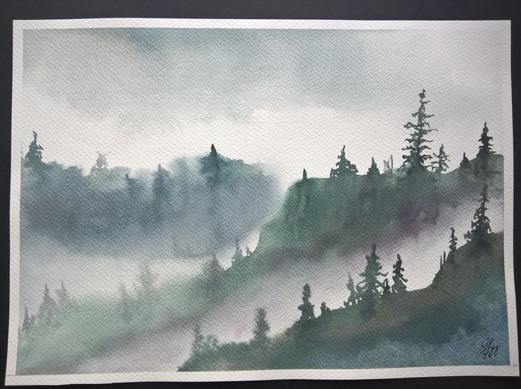 Watercolor Painting | Handmade | Wall Hanging | Home Decor | Landscape | Nature | Gift | Size: Height 25cm X Width 35cm