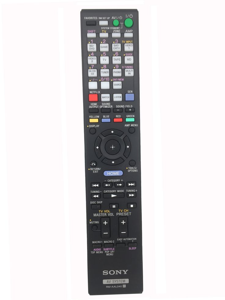 RM-AAL040 Sony Replacement Remote Control for Sony AV RECEIVER System Home Theater System Remote Control STR-DA5700ES