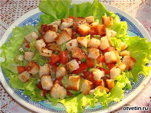 Постный салат из консервированной фасоли