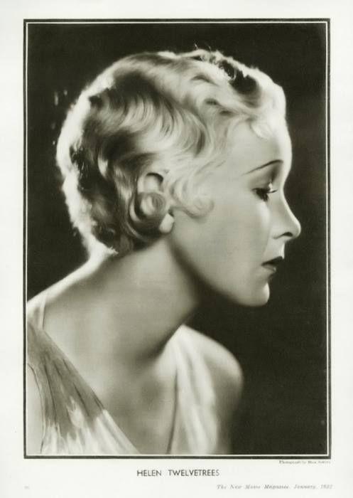 Stage+Screen Actress Helen Twelvetrees; portrait from New Movie Magazine, 1932.