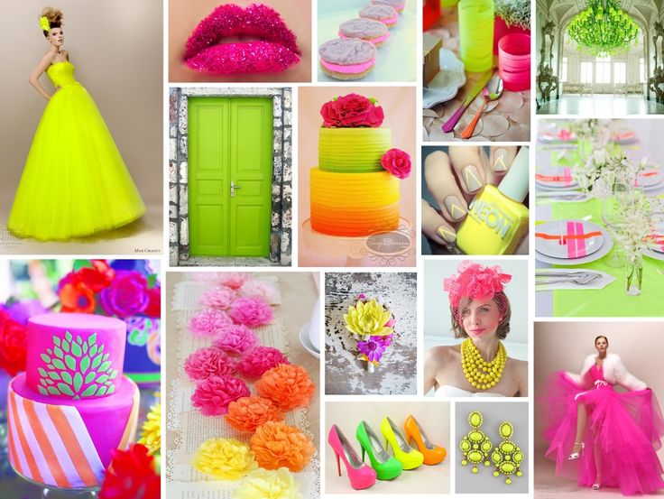 ELECTRIC NEON WEDDINGS The weather has finally turned HOT and our thoughts turn to vibrant, summery, electric shades that will have your wedding definitely stand out against the others.  Think popsicle pinks, orange crush tangerines and battery charged yellows.  This colour theme is not for the faint-hearted.  Go neon or go home!  www.katherinecourtney.com