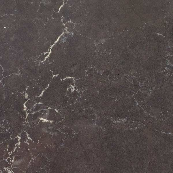 I think this is the one!  Deep gray with cream veins in quartz countertop Piatra Grey, Caesarstone