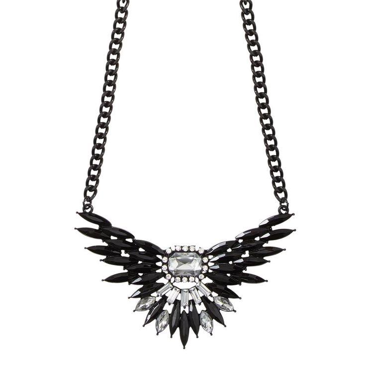 #ONLY #ketting #zwartzilver #strass #sieraden #accessoires #wehkamp