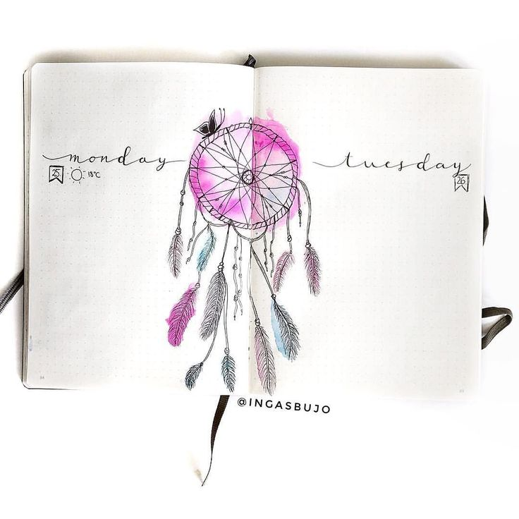 Friday Feature I am loving this dream catcher spread from Inga (@ingasbujo)! The colors are perfect & the simple headers for her dailies are on point! Go check her out before the day's over & show her some!Use hashtag #lifebyw to show off your fav journal spreads & get featured next week! . . . . . #handlettering #handwriting #handwritten #journaling #lettering #bulletjournal #bujo #plannercommunity #plannerlife #notebookaddict #plannerinspiration #showmeyourplanner #plannerporn #artjournal…