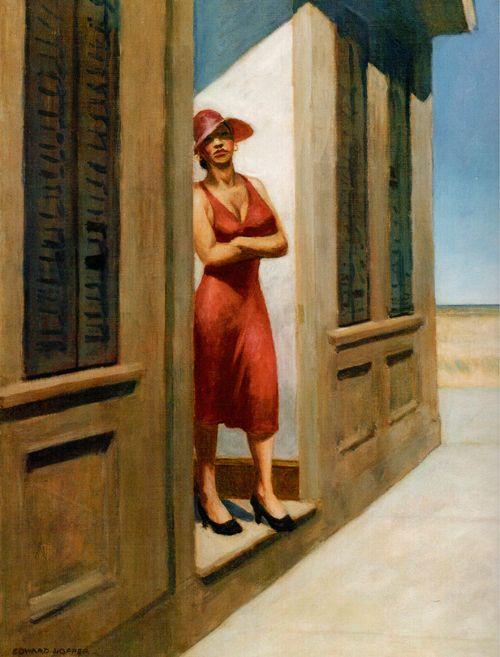 Edward Hopper - Painting - Realism - 1955 - South Carolina Morning