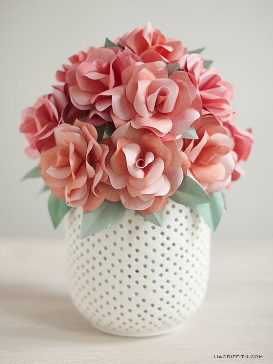 DIY PAPER ROSE WEDDING BOUQUET