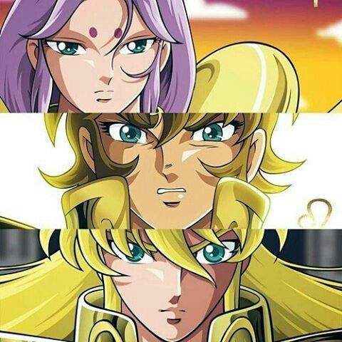 Gold saints: Aries no Mü, Leo no Aioria and Virgo no Shaka