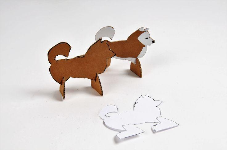 Cardborad dog DIY