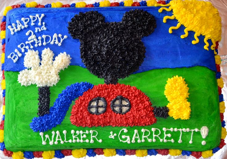 buttercream frosting mickey cake   Affordable Cakes by Tiffany: Mickey Mouse Club House Cakes
