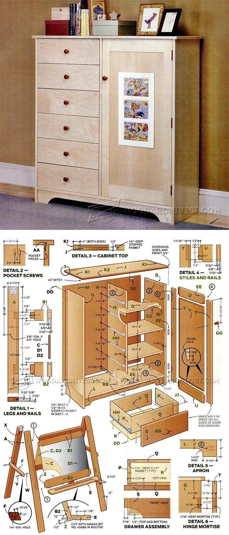 Storage Cabinet Plans - Furniture Plans and Projects | WoodArchivist.com