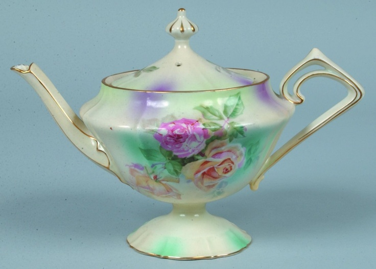 RS Prussia Tea Pot , just beautiful ! I have a thing for fancy old tea pots and…