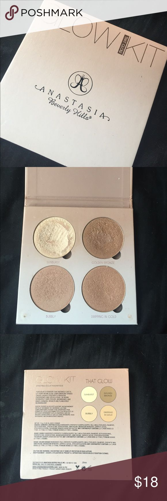 Anastasia Beverly Hills That Glow Highlighter ABH That Glow Highlighter, it's been loved but still has a lot of life left! Open to offers Anastasia Beverly Hills Makeup Luminizer