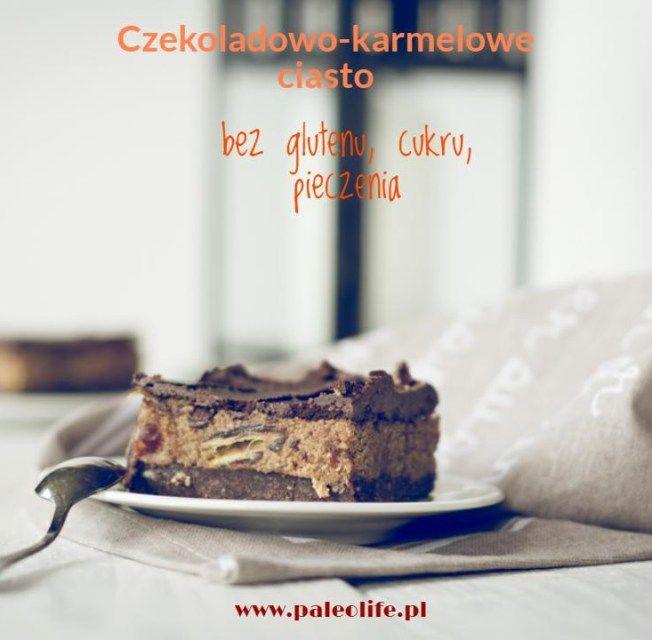 Szybkie ciasto bez glutenu, czekoladowo-karmelowe - paleolife