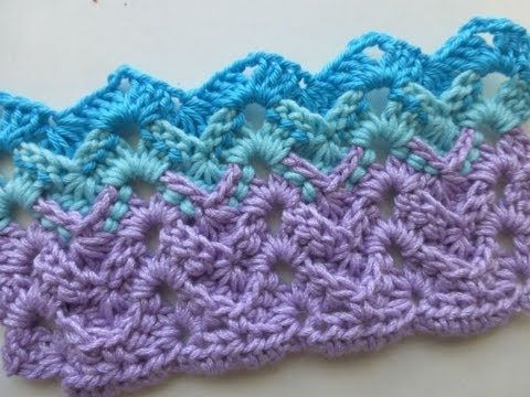 Tutorial on how to crochet this 3-dimensional zigzag/chevron stitch
