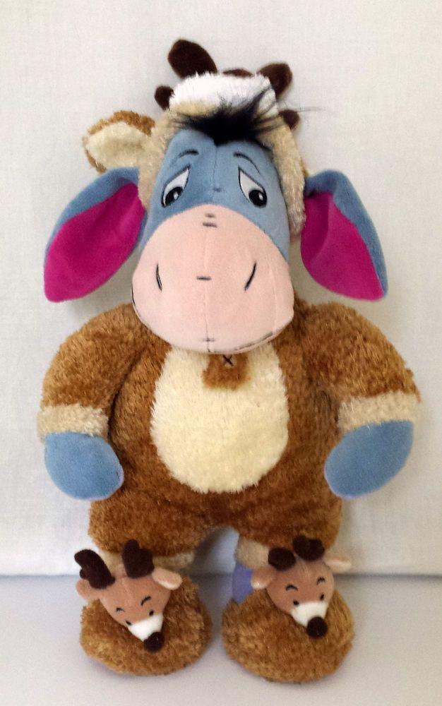 "Disney Store Exclusive Eeyore Winter Reindeer Sleeper Plush 16""H 1999 NWT #DisneyStoreExclusiveSeePhoto"
