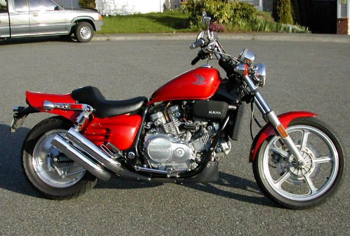 and motorcycles. 1988 Honda super magna.