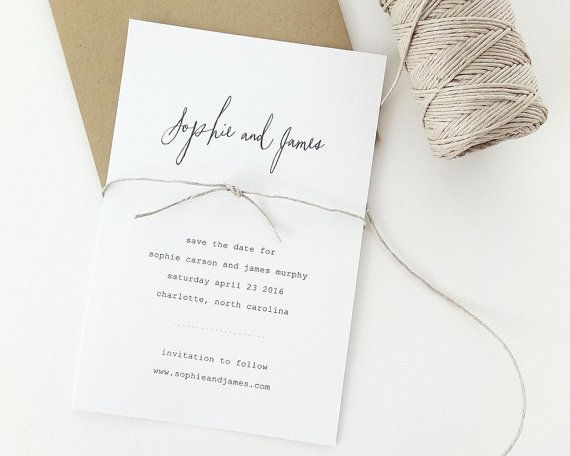 Sophie Rustic Wedding Save the Date Sample / Save by augustandwhitedesign