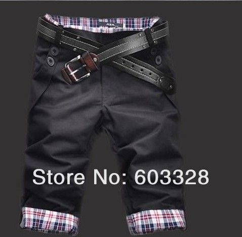 2016 Fashion Casual Plaid Inter F Men's Cropped Jean Pants Men for Leisure…