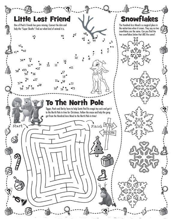 Fichas de Inglés para niños: Christmas worksheets