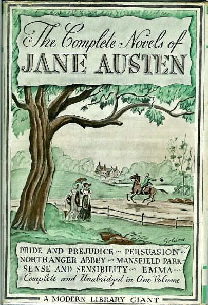 1930s book covers - Jane Austen in the Modern Library