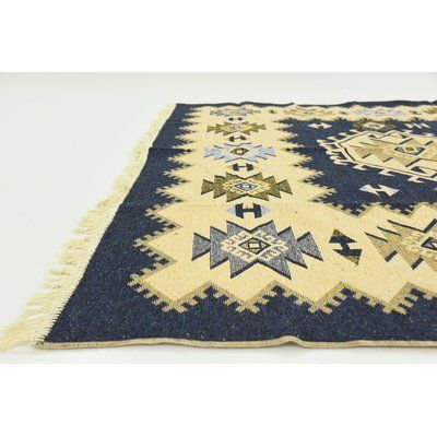 """World Menagerie St Lawrence Navy Blue Area Rug Rug Size: 6'6"""" x 9'7"""""""
