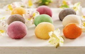 Mochi, o doce de arroz japones, surge com recheio de sorvete