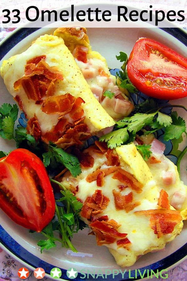 Omelettes are quick and easy to fix, and they can even be one dish meals. And unlike most convenient meal options, they are also packed with nutrition. Here are 33 omelette recipes to get you started.