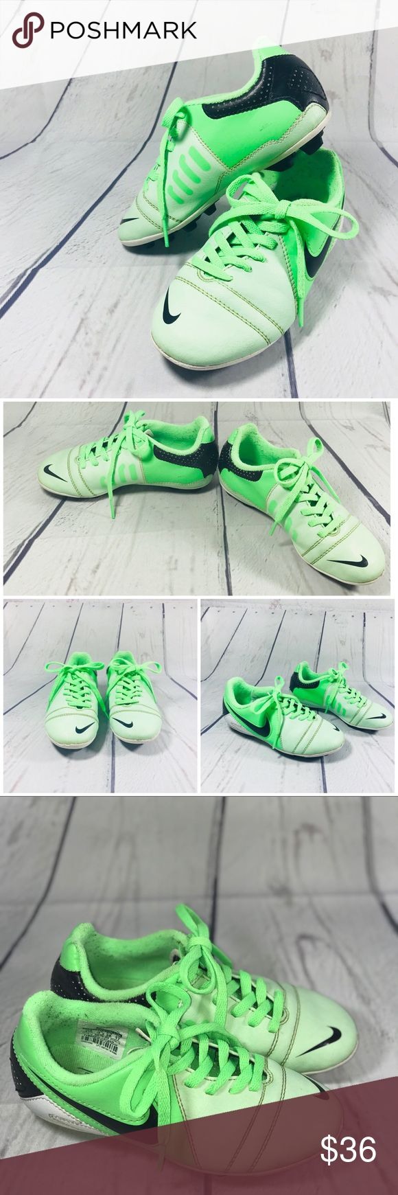 "Nike CTR360 MINT-GREEN Kids Soccer Cleats Nike CTR360 MINT GREEN Kids Soccer Cleats Size 11 C US   Brand: Nike  Style: CTR360   Color:  Green / white   ""Used Without Box"" Nike Shoes Sneakers"