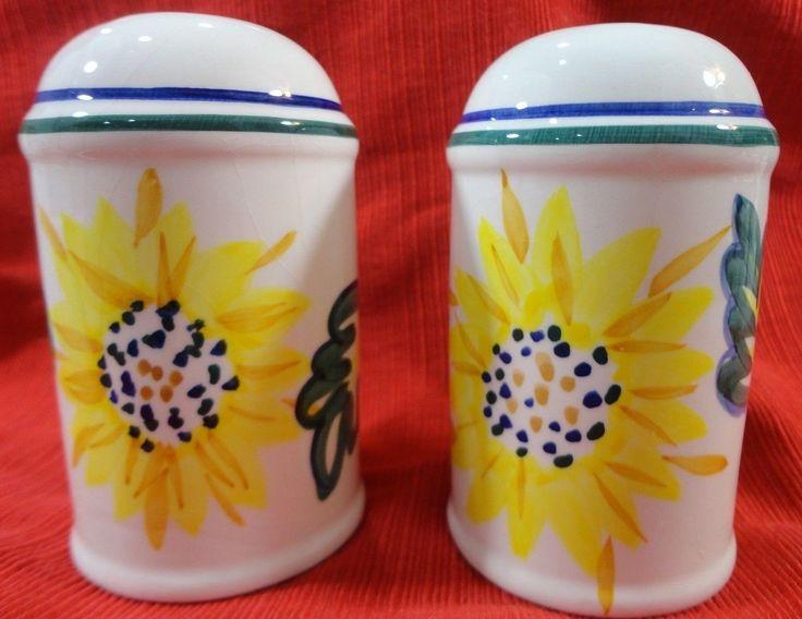 Vintage Sunflower Design Salt And Pepper Shaker