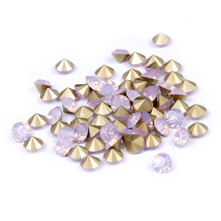 ss11.5-ss25 Pink Opal Color Beauty Pointback Rhinestones Design Glitter Crystal Strass Glass Stones 3D Nails Art Decorations