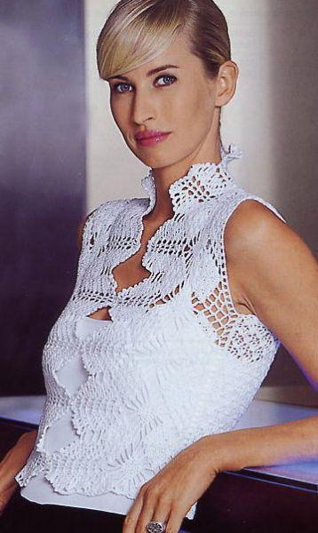 Crochet top exquisite design PDF PATTERN sexy por FavoritePATTERNs