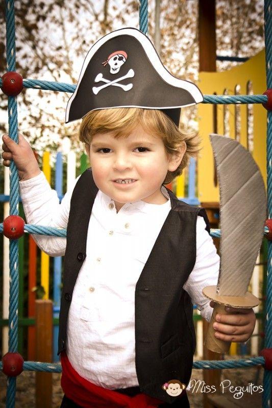 disfraz de pirata casero