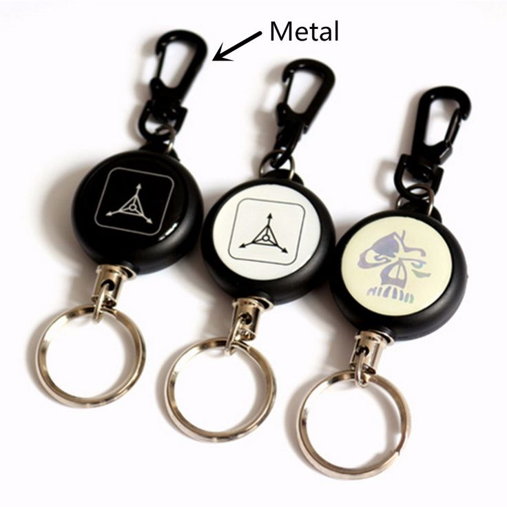 High Strength Steel Wire Practical Badge Spreader Carabiner Retractable Pull Reel Strap Belt Clip Key Chain Camping Travel Kits